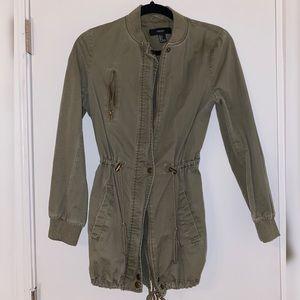 Forever 21 Olive Utility Jacket